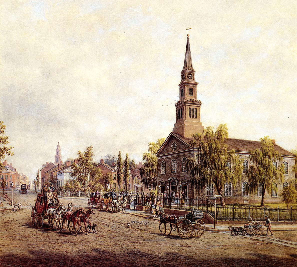 St. Mark's, early 1840s, by Lamson (image from Ephemeral New York)