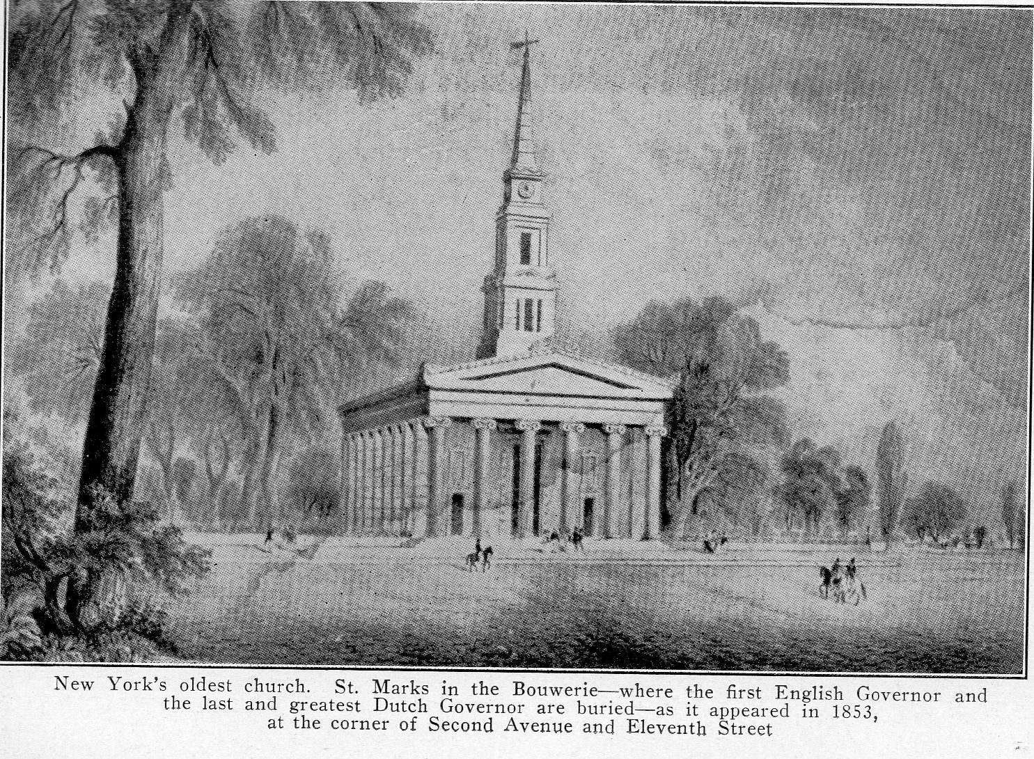 St. Mark's, 1853 (image from Ephemeral New York)