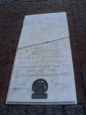 Grave of Daniel D. Tompkins at St. Mark's in-the-Bowery (image from Historic Markers Database)