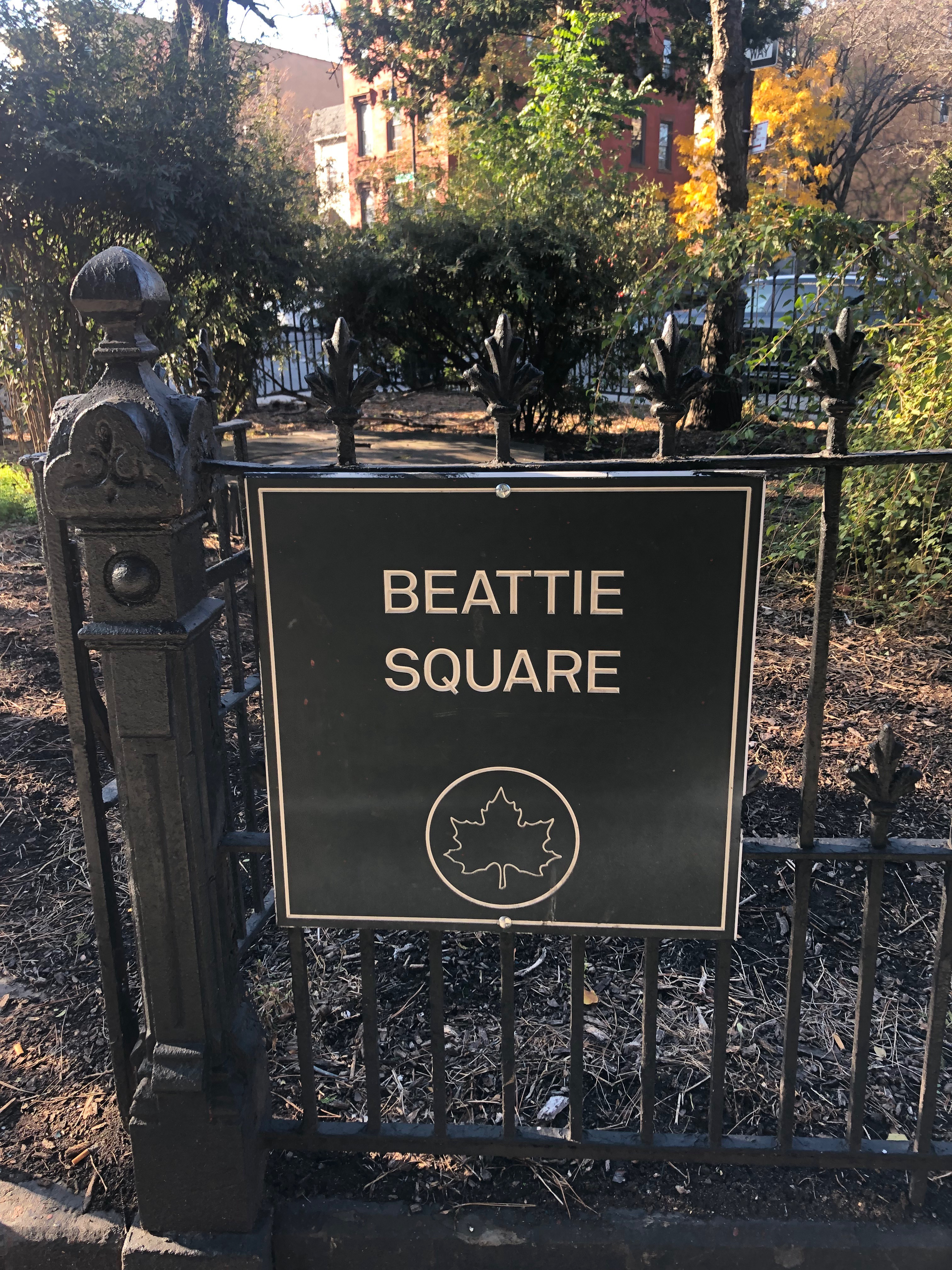 Beattie Square Sign.