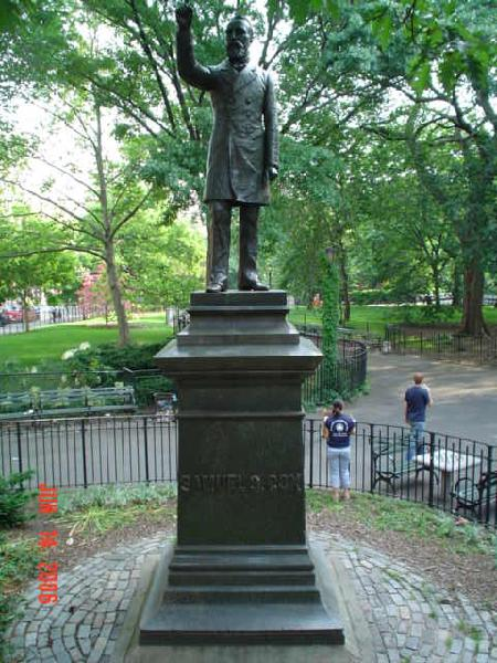 Cox Memorial in Tomkins Square Park (image from NYC Parks)