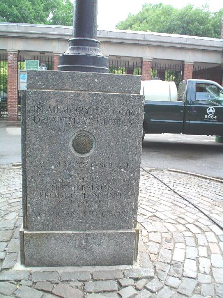 Ukrainian American Flagstaff in Tomkins Square Park (image from NYC Parks)