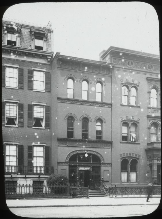 Historic photograph of the New York Public Library, Ottendorfer Branch (image from NYPL)