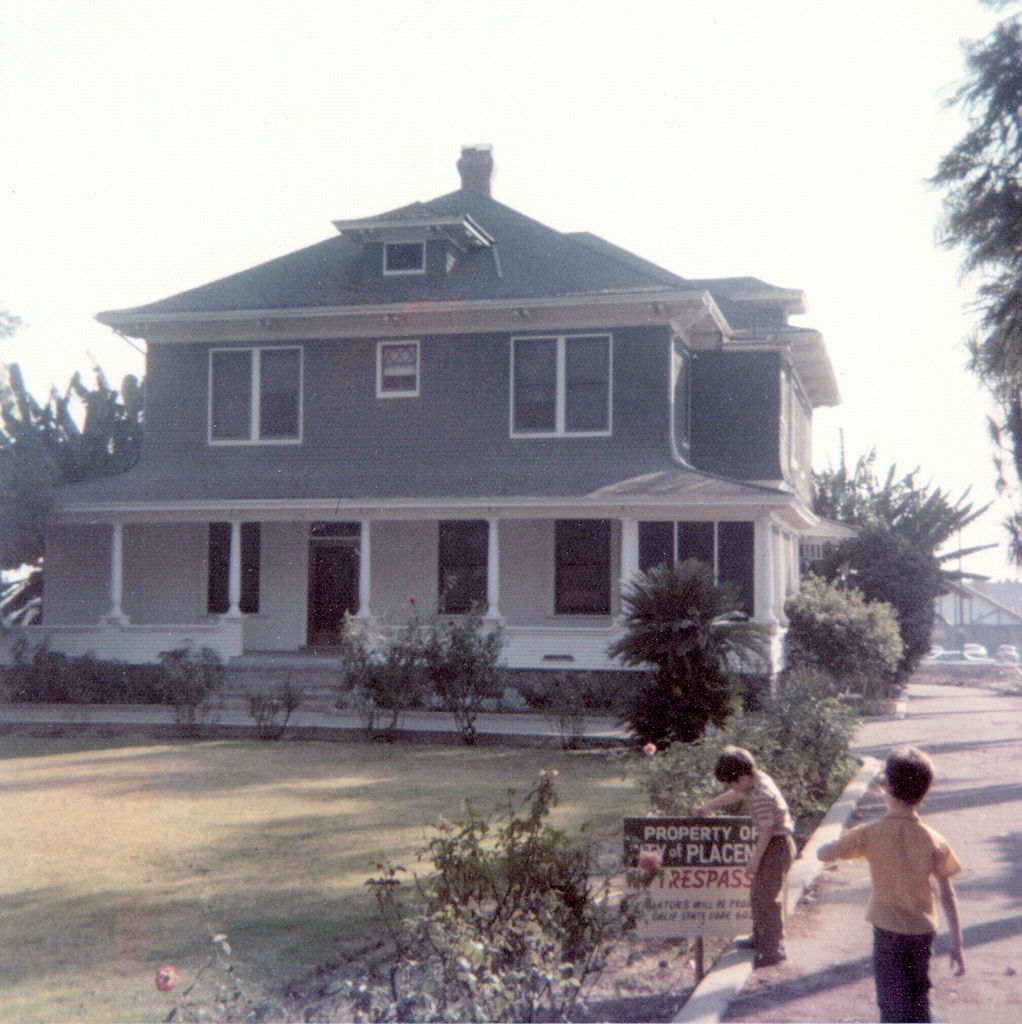 The Bradford House in 1974, shortly after it was donated to the city.
