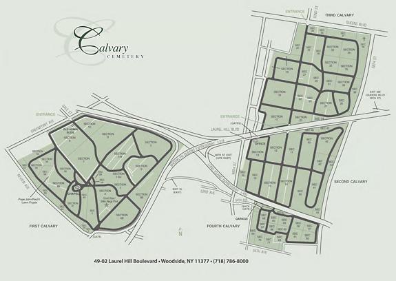 Map of calvary cemetery (http://www.calvarycemeteryqueens.com/)
