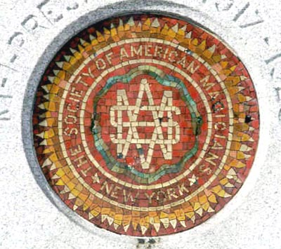 Mosaic emblem of the Society of American Musicians (http://www.findagrave.com/)