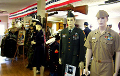 The museum includes a number of historic uniforms, as well as weapons and training devices, equipment, historic photos, and other artifacts.