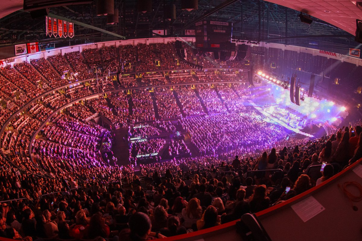 Inside the Honda Center for a concert
