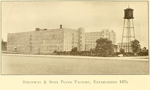 Steinway and Sons factory in 1876 (http://skyscraper.org/)