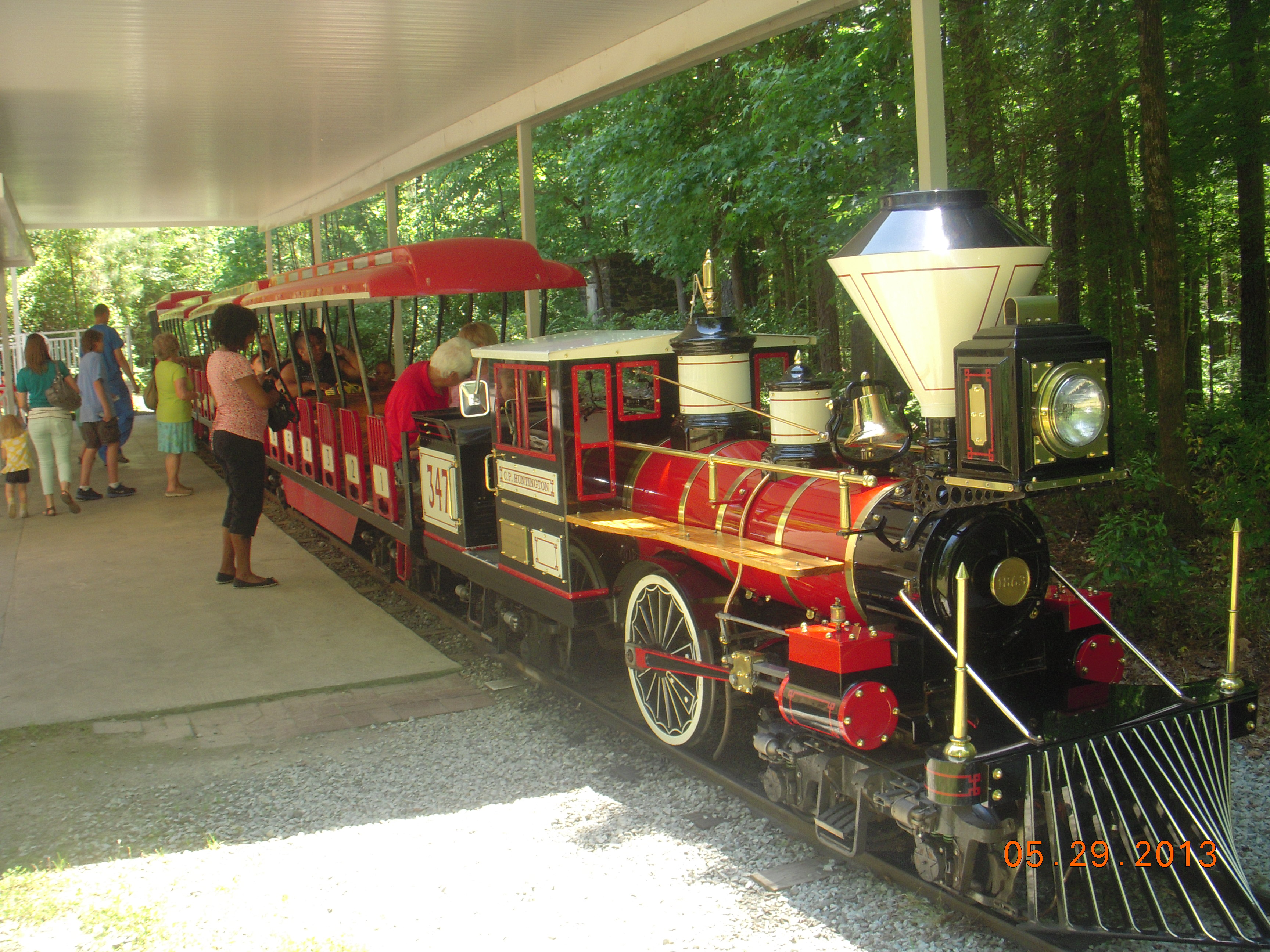 There is also a mini train that visitors can ride