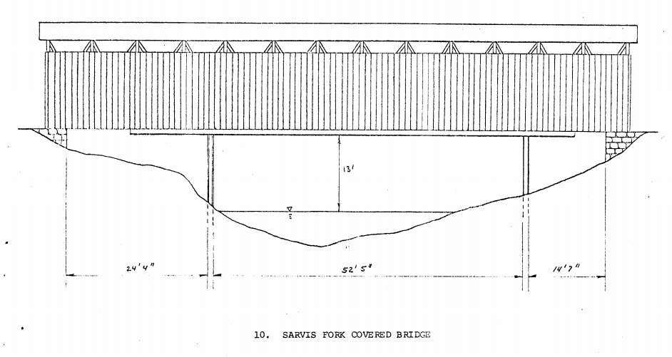Architectural sketch of the bridge