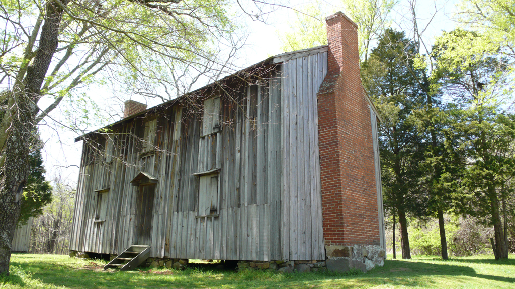 One of the slave houses in Horton Grove