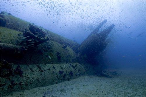 German submarine U-352 on the ocean floor