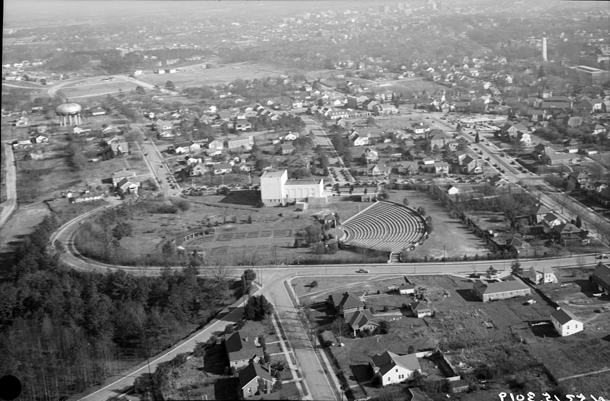 Early aerial view.  Credit: Raleighlittletheatre.org