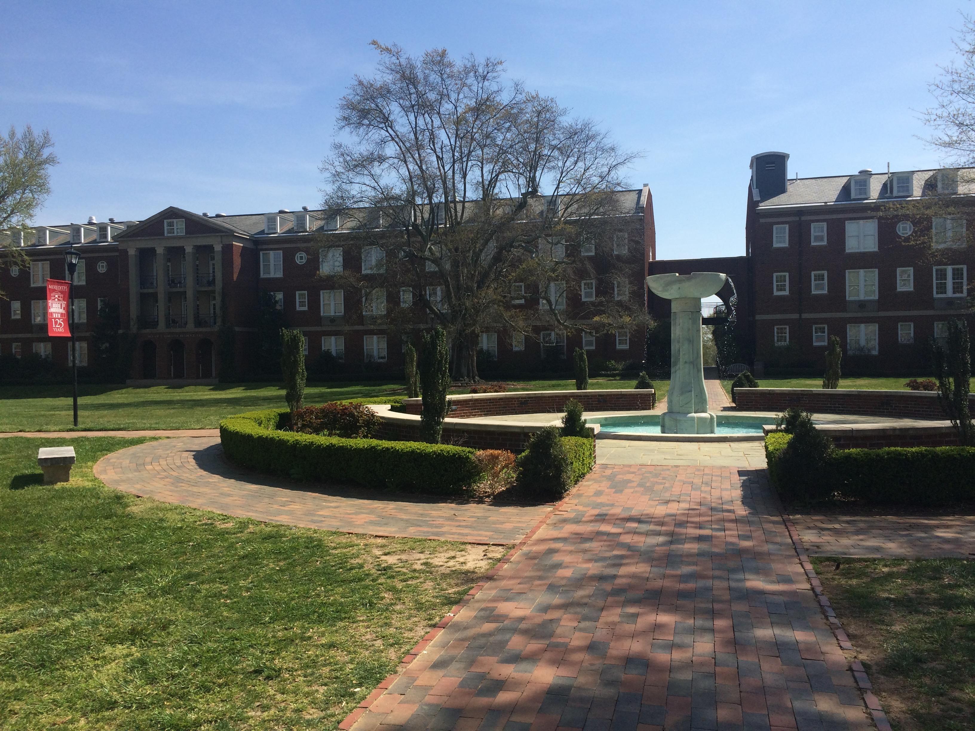 Four dorms sit in this original quad: Stringfield, Vann, Faircloth, and Brewer.