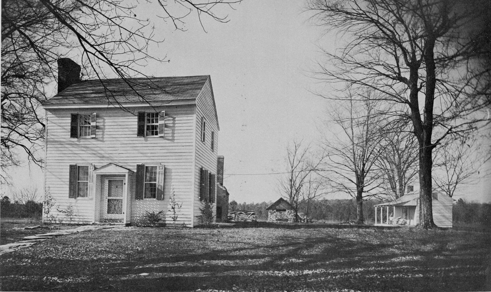 Dickson House on original lot in 1960s. Photo courtesy of openorangenc.org
