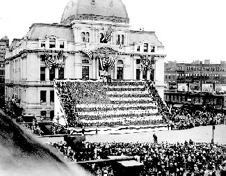 President Woodrow Wilson delivers a speech on June 3, 1916. America was officially neutral in World War I, but the President's speech called for preparedness.