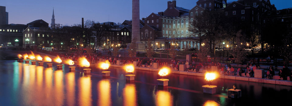 Waterfire in front of the Courthouse