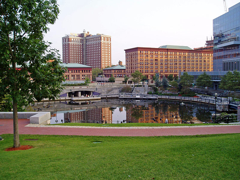 Completed in 1994, this park has become the highlight of Providence's downtown revival efforts.