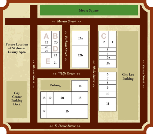 The layout of City Market