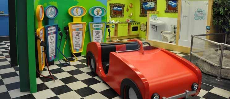 Children's gas station.