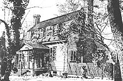 The Joel Lane House black and white image, courtesy of the North Carolina Office of Archives and History.