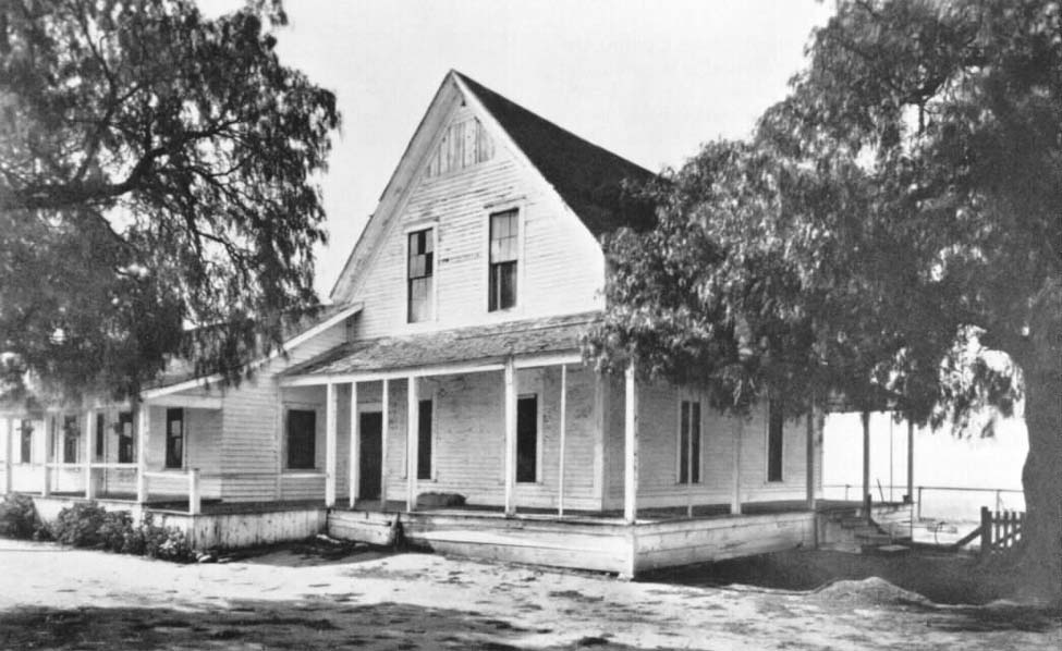 The original Irvine Ranch House.  The museum is now housed in the one-story addition on the left.