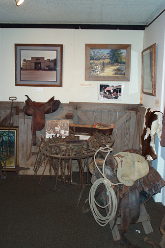 Ranching exhibit.