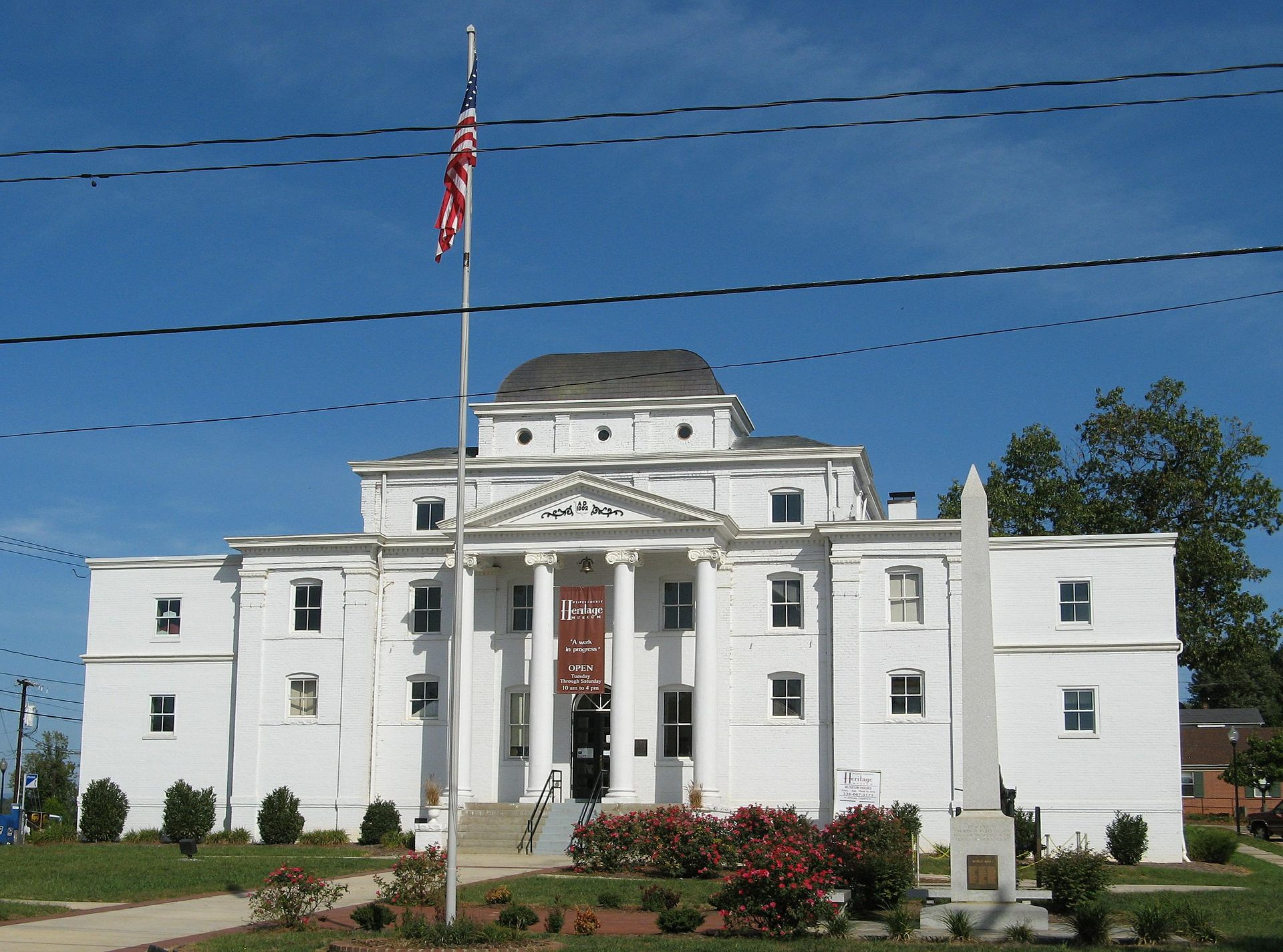 The Wilkes Heritage Museum, formerly the county courthouse