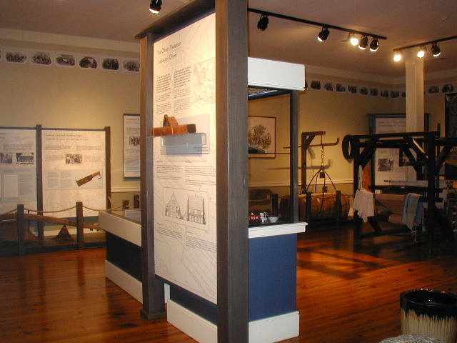 Inside the historic site's museum.