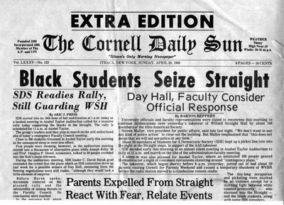 Within weeks of the protest at Cornell, similar protests and occupations of campus buildings occurred at several other leading colleges.