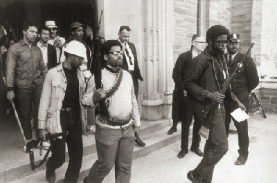 This photo of student Eric Evans and other protesters leaving the building won a Pulitzer Prize.