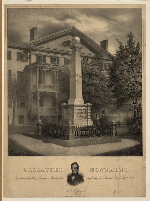 Gallaudet Monument (http://www.loc.gov/)