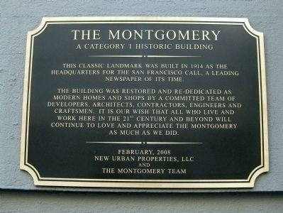 The Montgomery historic marker (image from Historic Markers Database)