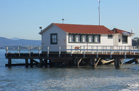 Greater Farallones historic pier, formerly Fort Point Life-Saving Station (image from The Presidio)