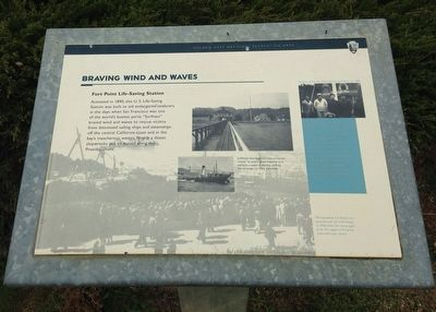 Braving Wind and Waves marker (image from Historic Markers Database)