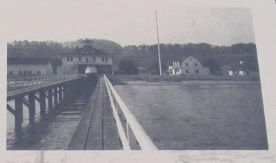 Marine railway of the Fort Point Life-Saving Station (image from Historic Markers Database)