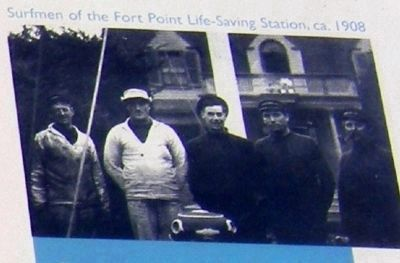 Surfmen of Fort Point Life-Saving Station, circa 1908 (image from Historic Markers Database)