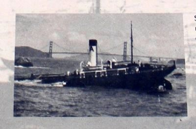 S.S. Frank Buck in distress off Fort Point (image from Historic Markers Database)