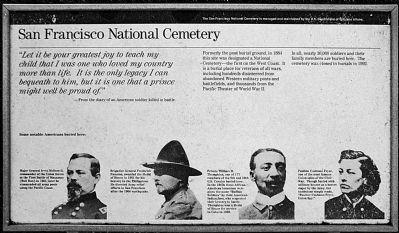 San Francisco National Cemetery historic marker (image from Historic Markers Database)