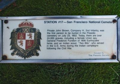 Station #17 Marker