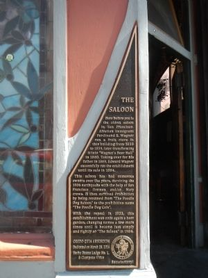 The Saloon historic marker (image from Historic Markers Database)