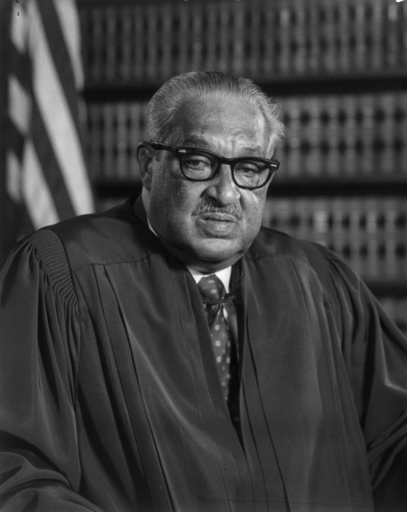 Thurgood Marshall as Associate Justice of the Supreme Court, 1976.