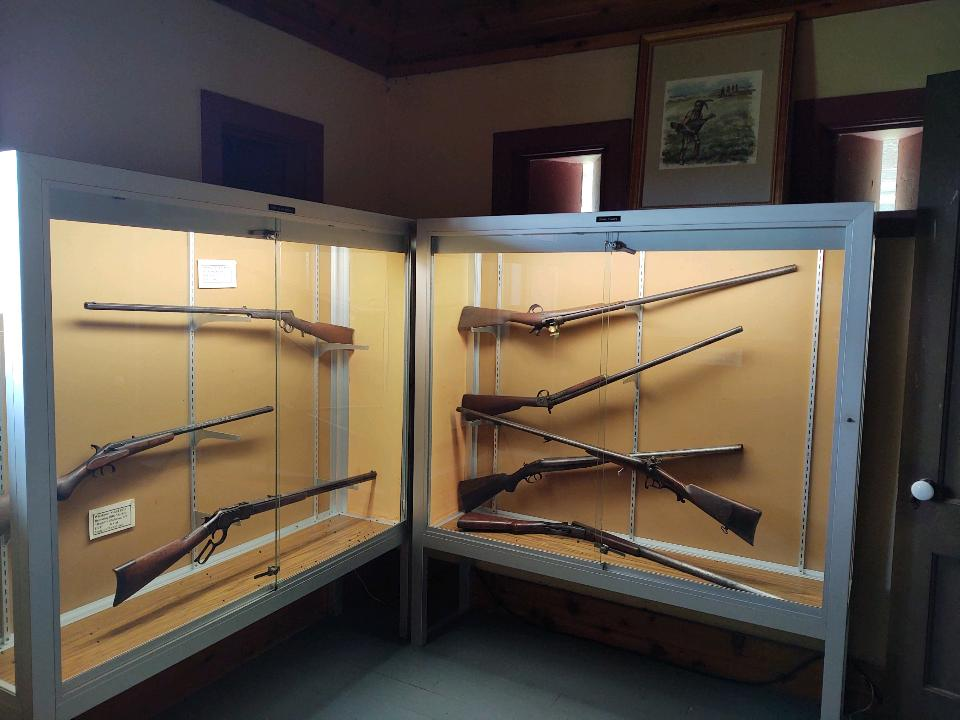 Gun display inside Guardhouse