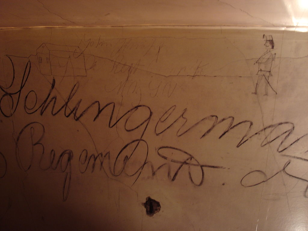 Example of writing and artwork in the attic of Historic Blenheim.