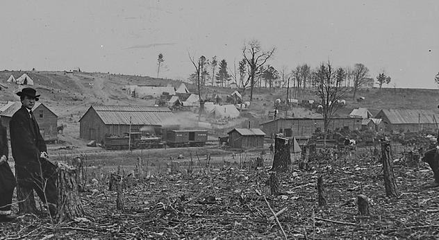 Fairfax Station During the Civil War. Photograph by Matthew Brady.