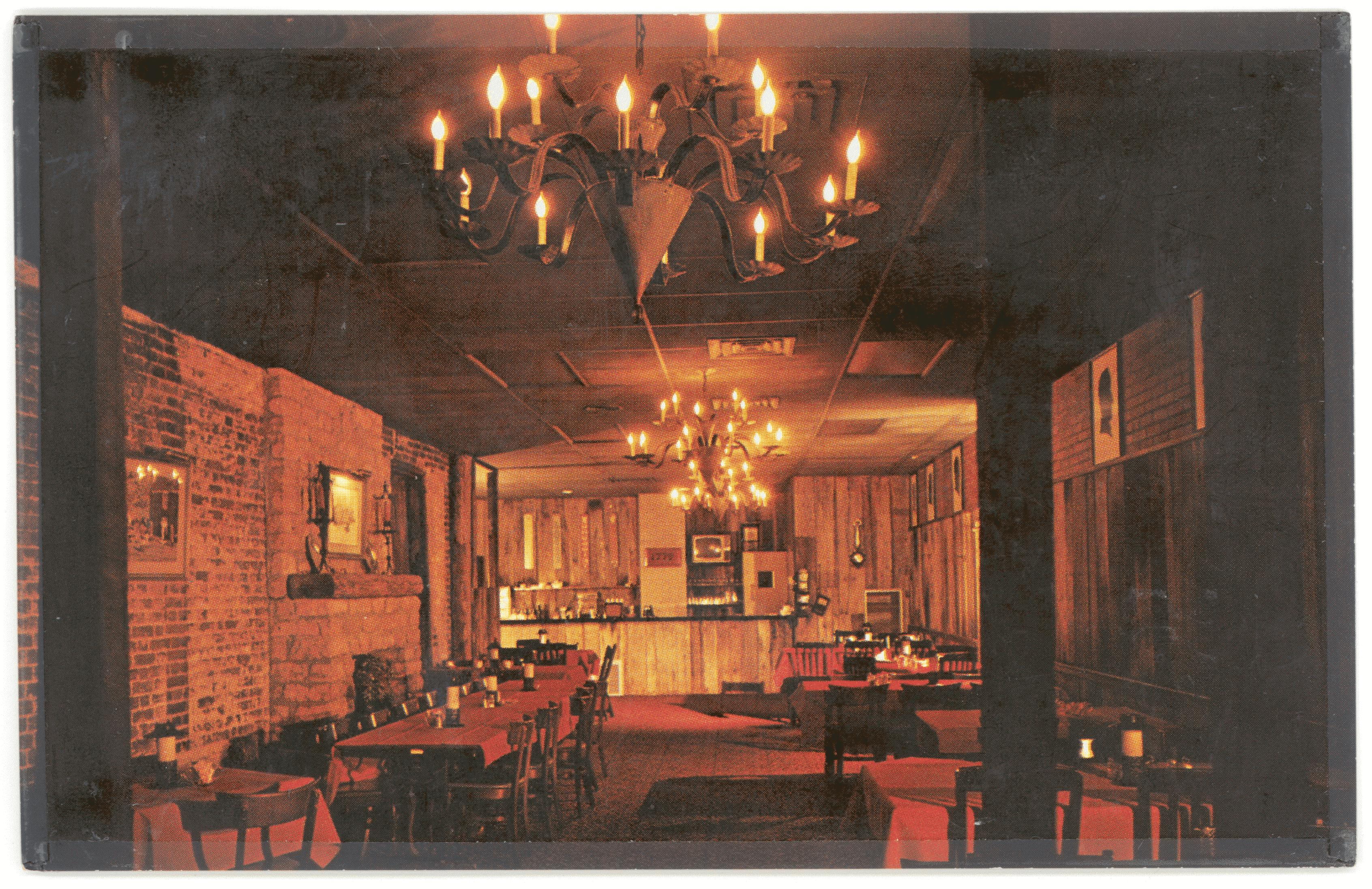 An image of the inside of the same tavern in Bardstown, Kentucky.