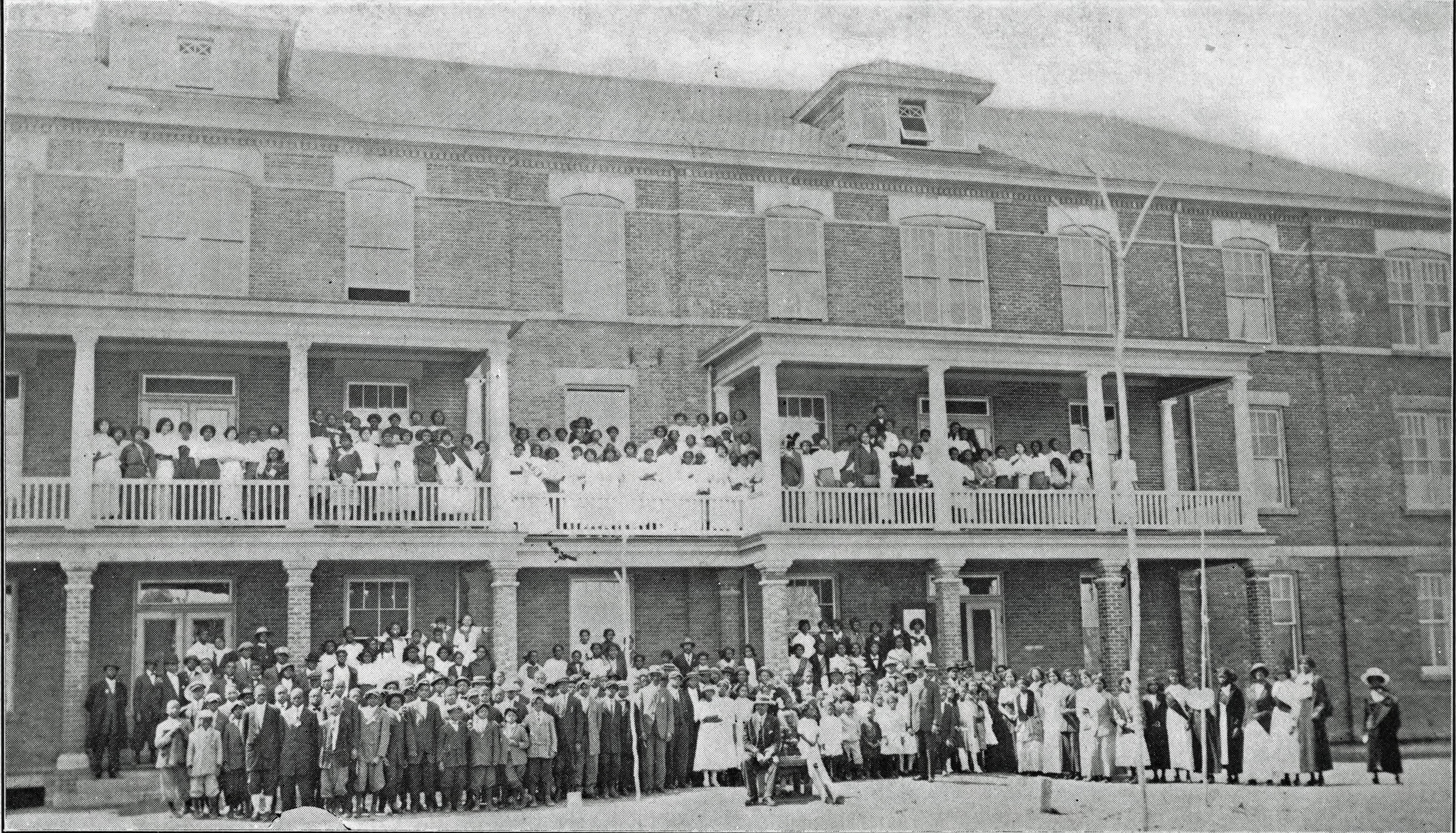 The student body of Elizabeth City State Colored Normal School, 1913-1914, Credit: ECSU Archives/Digital NC