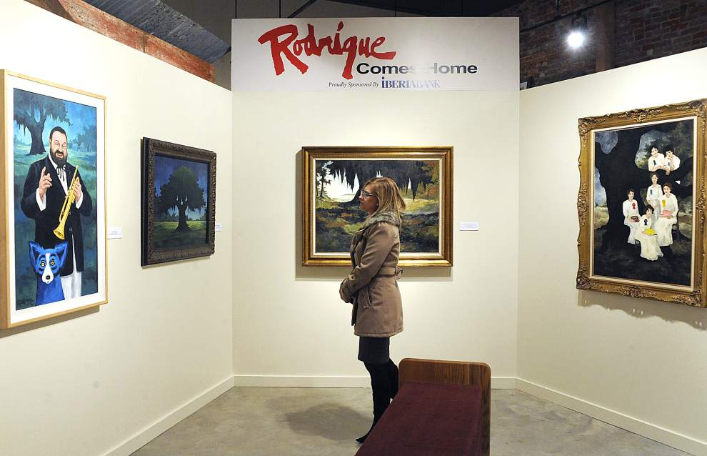 George Rodrigue's artwork on display.