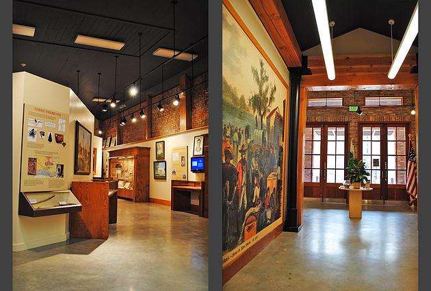 The museum's interior.